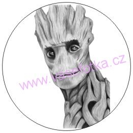 Button - placka Strazci galaxie Groot