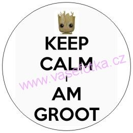 Button - placka Strazci galaxie Keep Calm 2