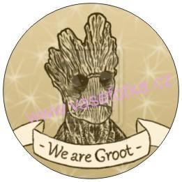 Button - placka Strazci galaxie We Are Groot