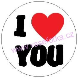 Button - placka I Love You 2