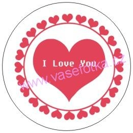 Button - placka I Love You 3
