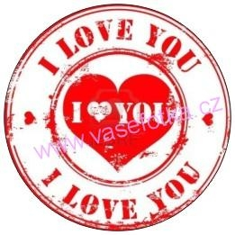 Button - placka I Love You 7