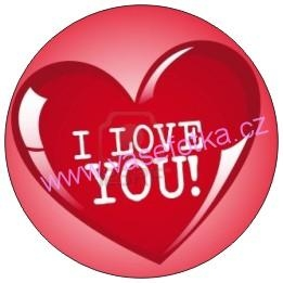 Button - placka I Love You 12