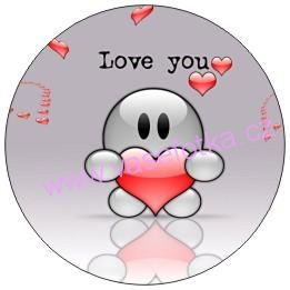 Button - placka I Love You 13